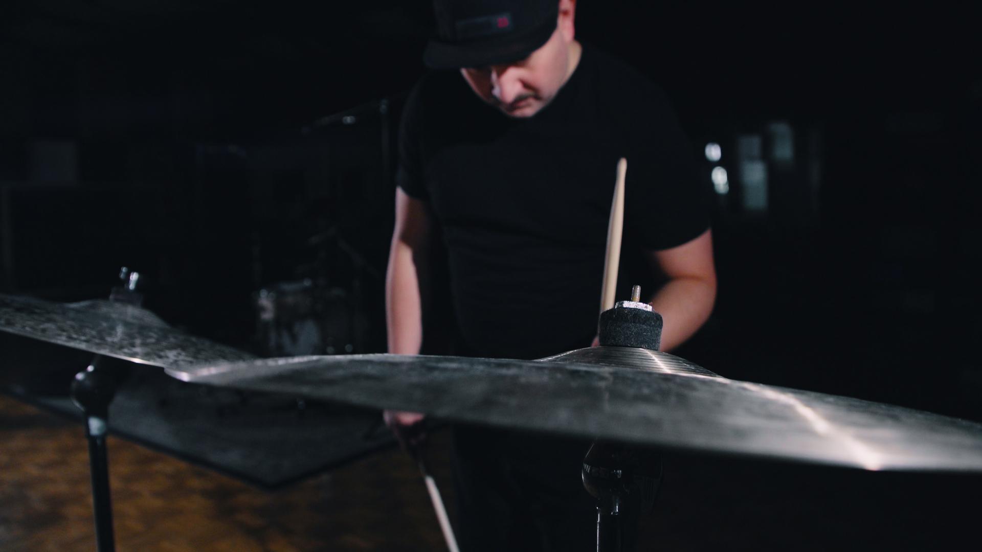 Felix Lehrmann testing Paiste Ride Cymbals