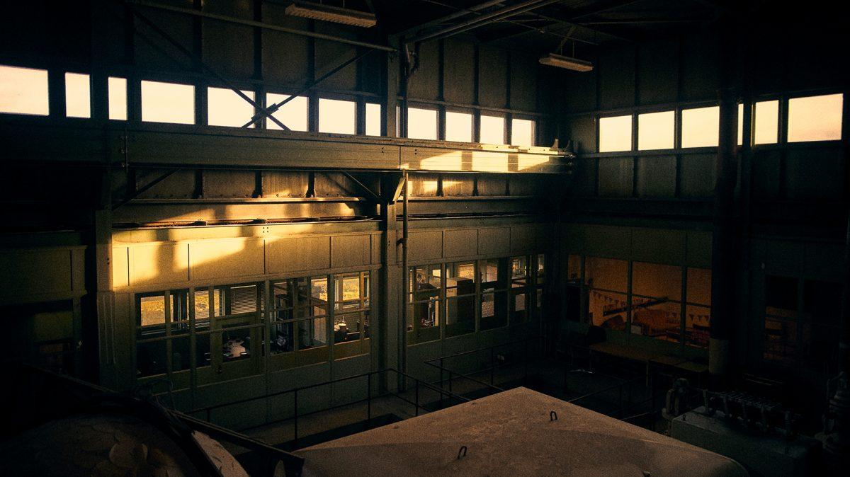 Ragnar Olafssons rehearsal space in an old industrial building near Reykjavík.
